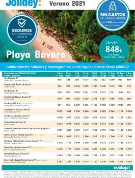 Playa Bavaro verano 2021 jolidey