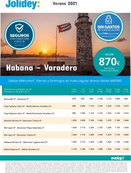Cuba combinados verano 2021 jolidey